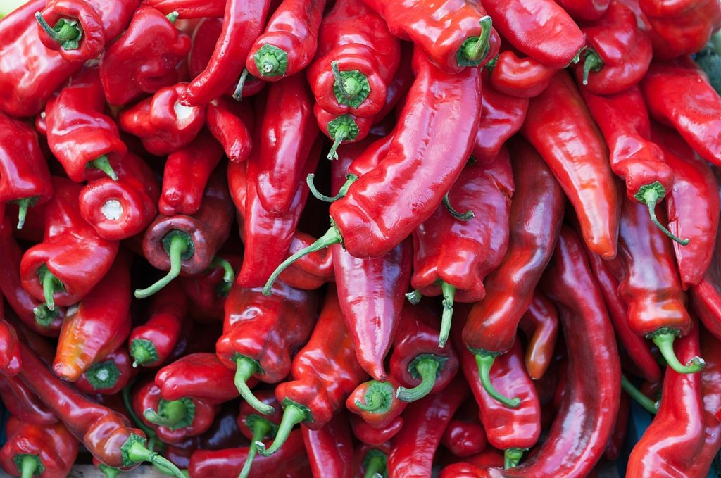 many chili peppers